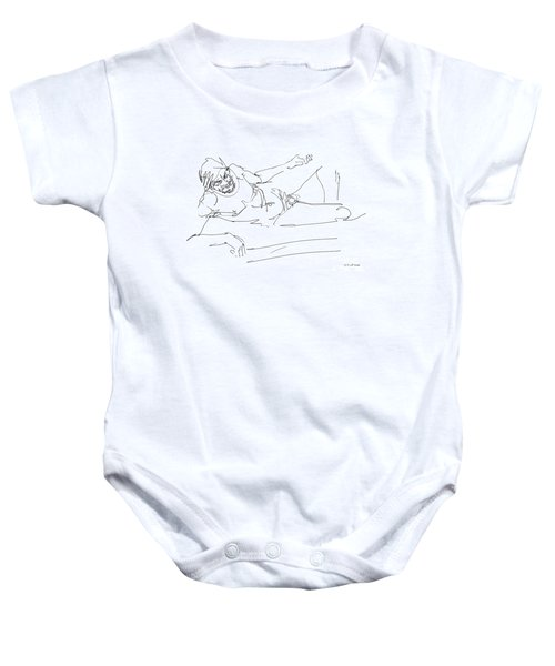 Naked-man-art-16 Baby Onesie