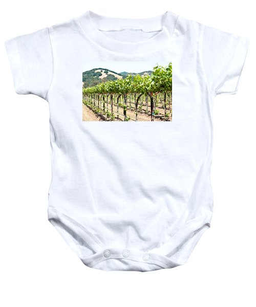 Baby Onesie featuring the photograph Napa Vineyard Grapes by Shane Kelly