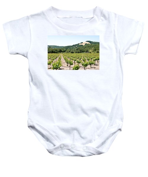 Baby Onesie featuring the photograph Napa Vineyard With Hills by Shane Kelly