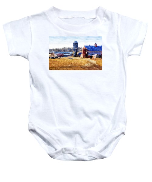 New England Farm 2 Baby Onesie