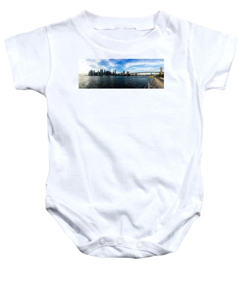 New York Skyline - Color Baby Onesie by Nicklas Gustafsson