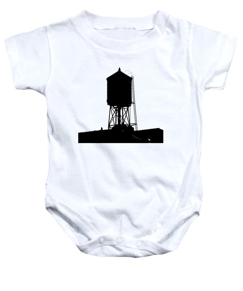 New York Water Tower 17 - Silhouette - Urban Icon Baby Onesie