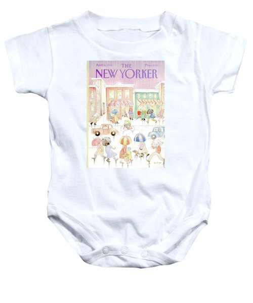 New Yorker April 16th, 1984 Baby Onesie