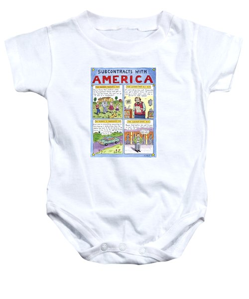 New Yorker January 16th, 1995 Baby Onesie by Roz Chast