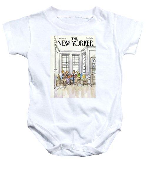 New Yorker March 3rd, 1980 Baby Onesie