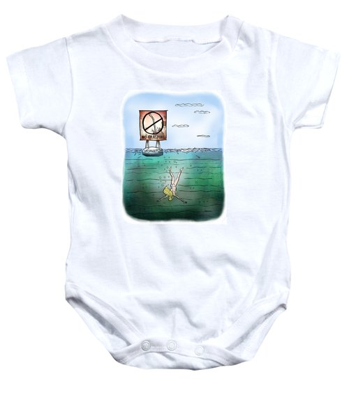 No Grasping Baby Onesie