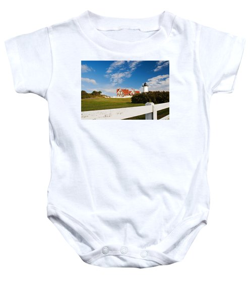 Nobska Point Lighthouse Baby Onesie