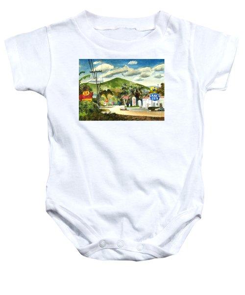 Nostalgia Arcadia Valley 1985  Baby Onesie