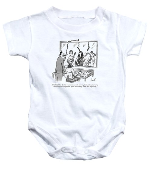 Not Bad, Fellas.  Let's Do One More Take Baby Onesie