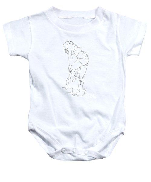 Nude Female Drawings 1 Baby Onesie
