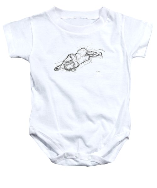 Nude Male Sketches 4 Baby Onesie