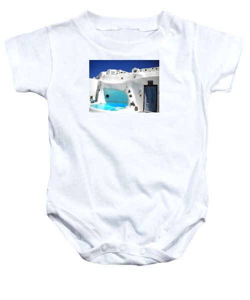 Baby Onesie featuring the photograph Oia Santorini  With Direct View To The Oceon Greece by Colette V Hera  Guggenheim