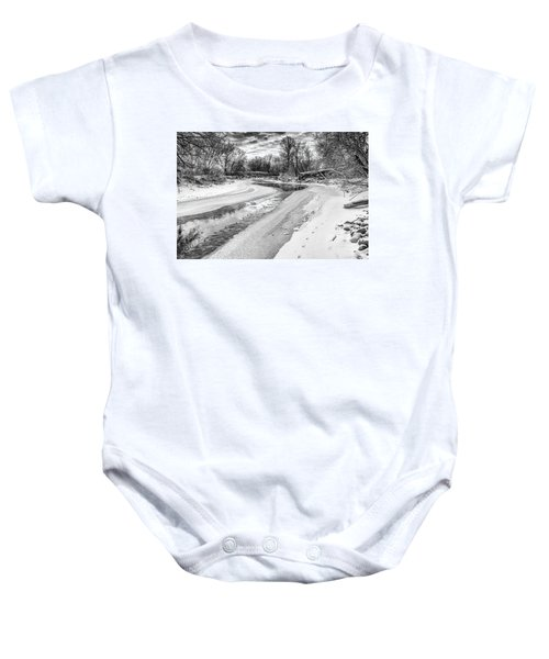 On The Riverbank Bw Baby Onesie