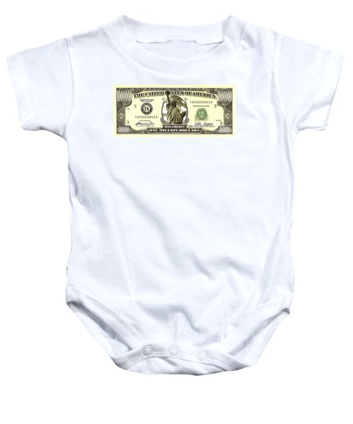 One Million Dollar Bill Baby Onesie