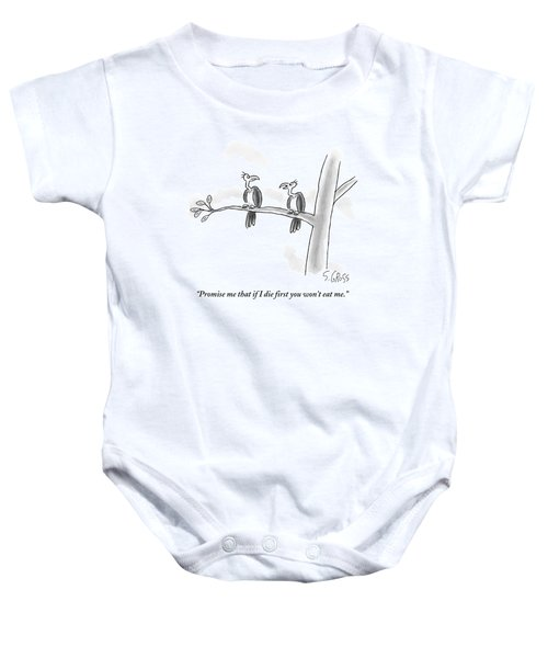 One Vulture Speaks To Another On A Tree Branch Baby Onesie