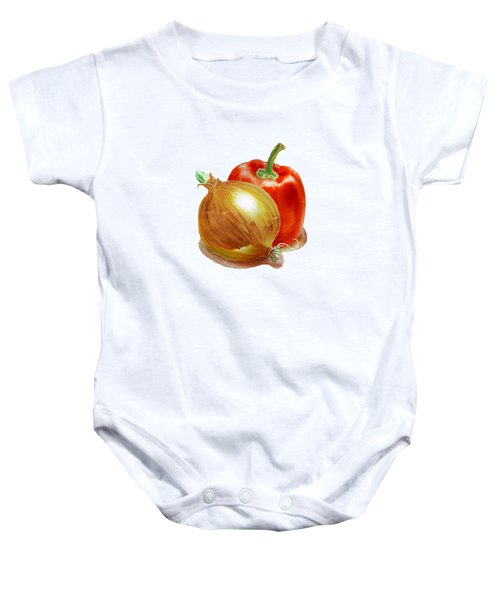 Onion And Red Pepper Baby Onesie