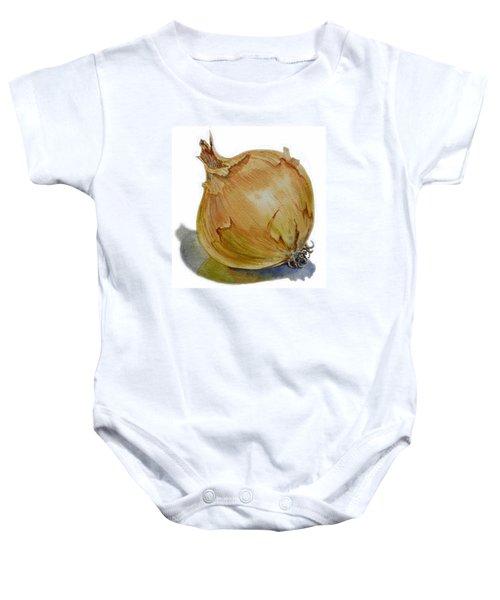 Onion Baby Onesie by Irina Sztukowski