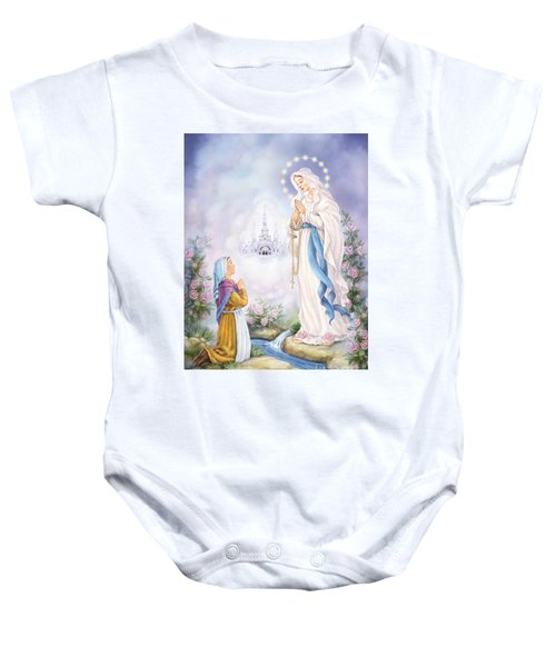 Our Lady Of Lourdes Baby Onesie