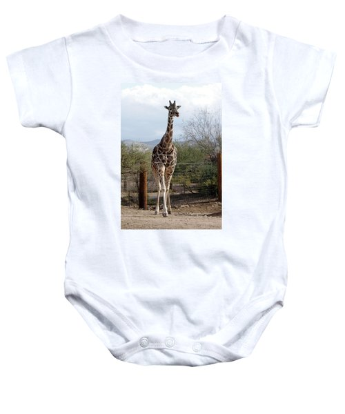 Out Of Africa  Giraffe 1 Baby Onesie