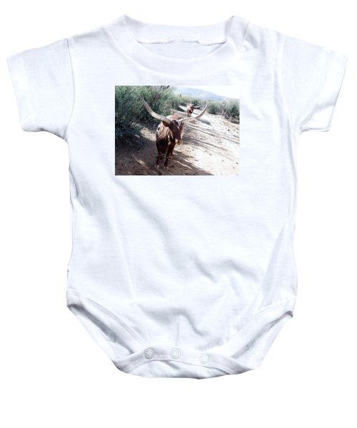 Out Of Africa  Long Horns Baby Onesie