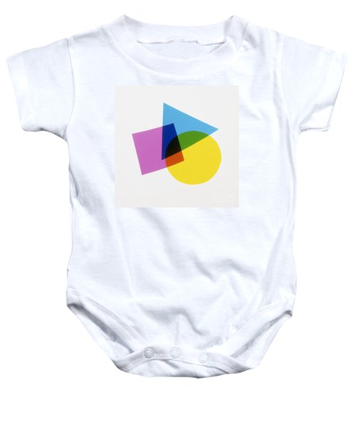 Overlapping Shapes Baby Onesie