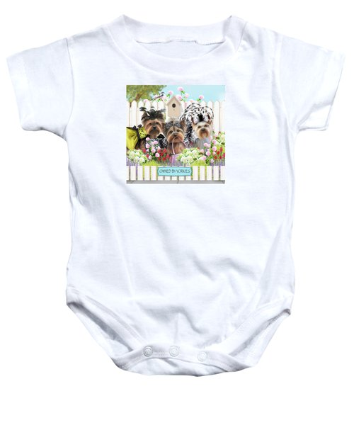 Owned By Yorkies II Baby Onesie