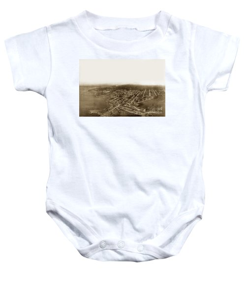 Pacific Grove 1200 From Feet Above Lovers Point And Monterey Bay 1906 Baby Onesie