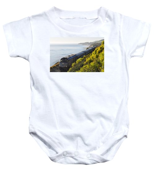 Pacific Surfliner Along The Central Coast Baby Onesie