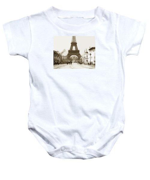 Paris Exposition Eiffel Tower Paris France 1900  Historical Photos Baby Onesie