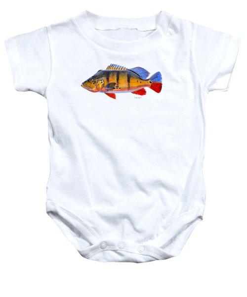 Peacock Bass Baby Onesie