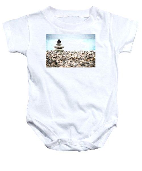 Pebble Stone On Beach Baby Onesie