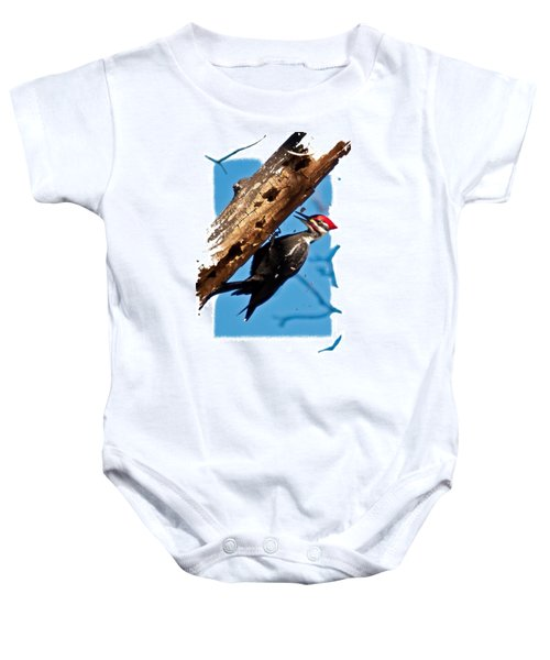 Pileated Woodpecker Baby Onesie