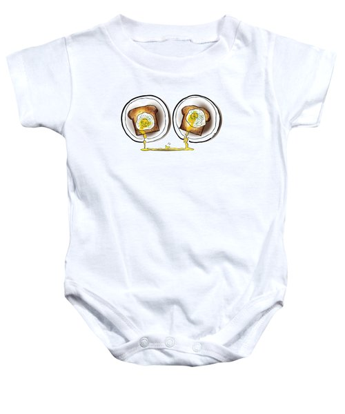 Poached Egg Love Baby Onesie