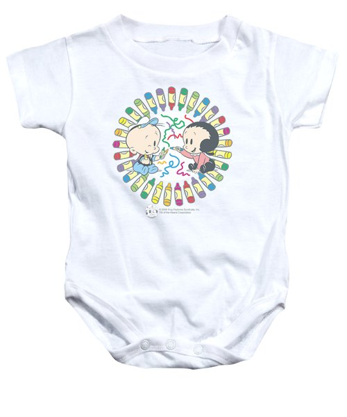 Popeye - Fun With Crayons Baby Onesie by Brand A