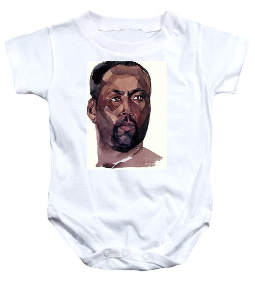Watercolor Portrait Of An Athlete Baby Onesie