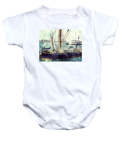 Portsmouth Harbour Boats Baby Onesie