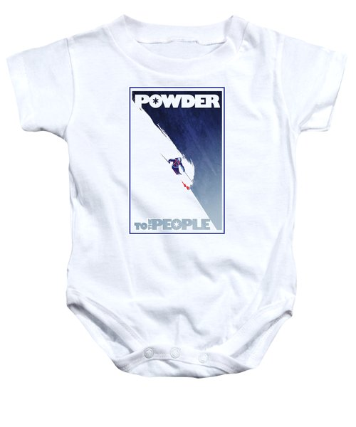 Powder To The People Baby Onesie