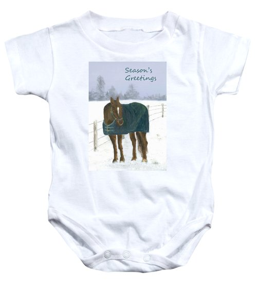 Prince Seasons Greetings Baby Onesie