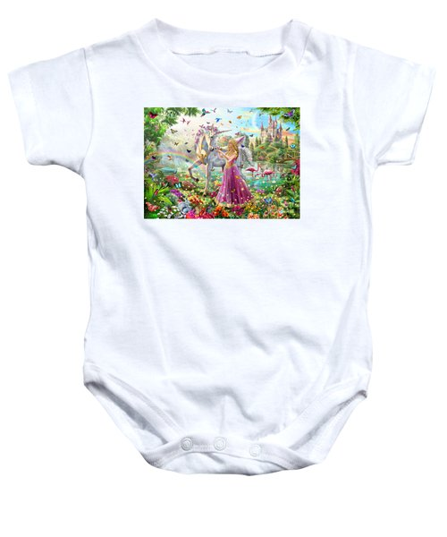 Princess And The Unicorn Baby Onesie