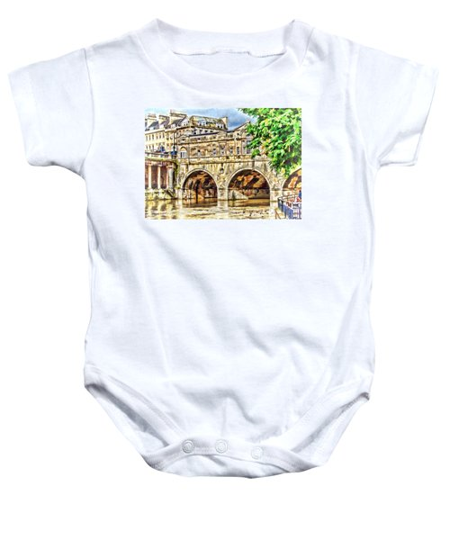 Pulteney Bridge Bath Baby Onesie