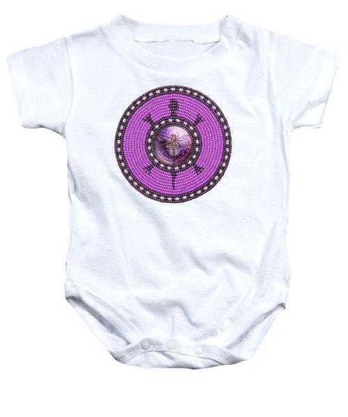 Purple Dragonfly Baby Onesie