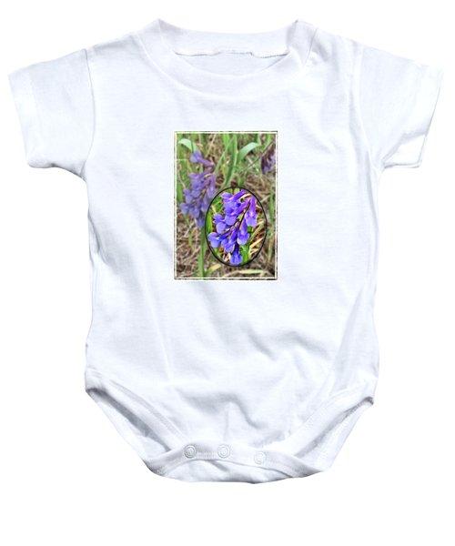Purple Wildflowers Baby Onesie