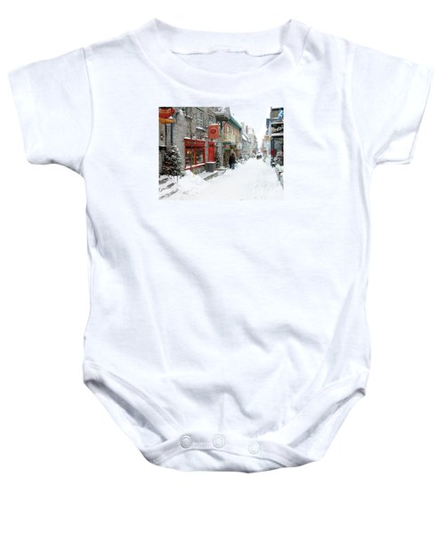 Quebec City In Winter Baby Onesie