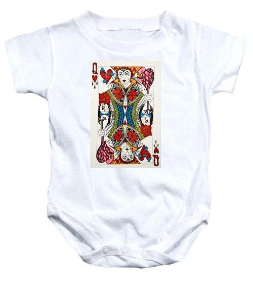 Queen Of Hearts - Wip Baby Onesie