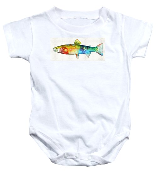 Rainbow Trout Art By Sharon Cummings Baby Onesie