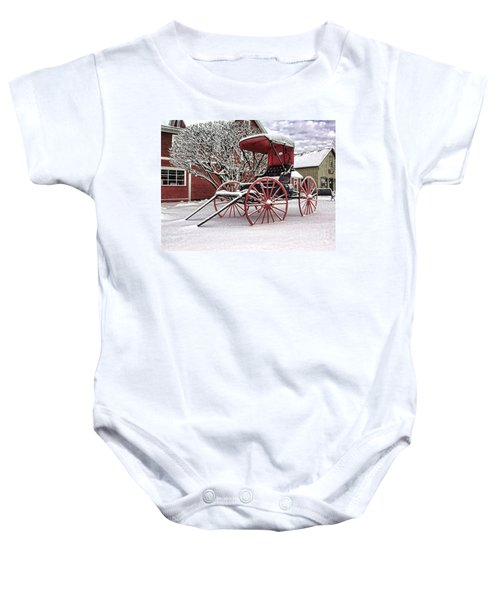 Red Buggy At Olmsted Falls - 1 Baby Onesie