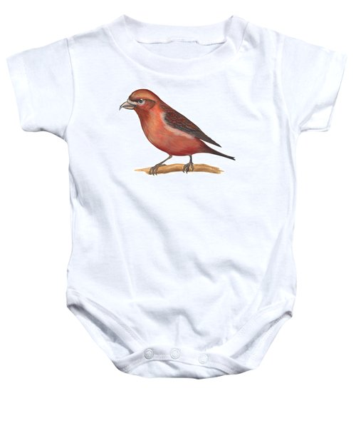 Red Crossbill Baby Onesie by Anonymous