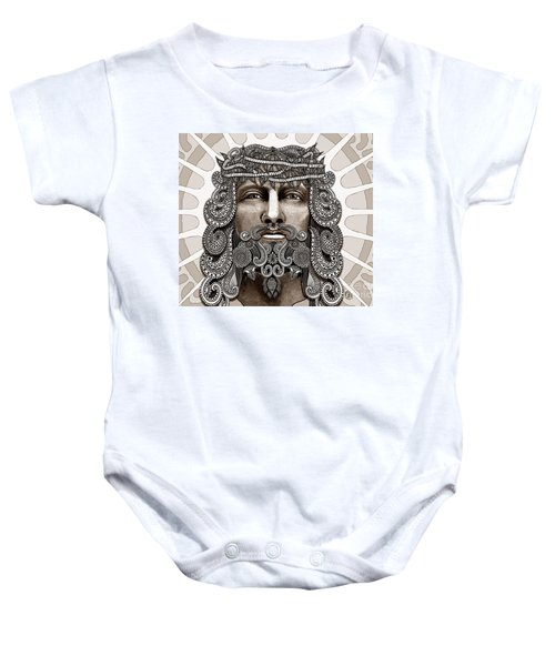 Redeemer - Modern Jesus Iconography - Copyrighted Baby Onesie