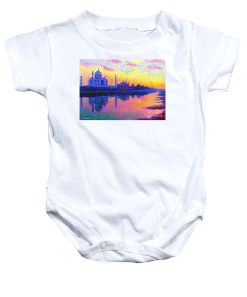 Taj Mahal, Reflections Of India Baby Onesie