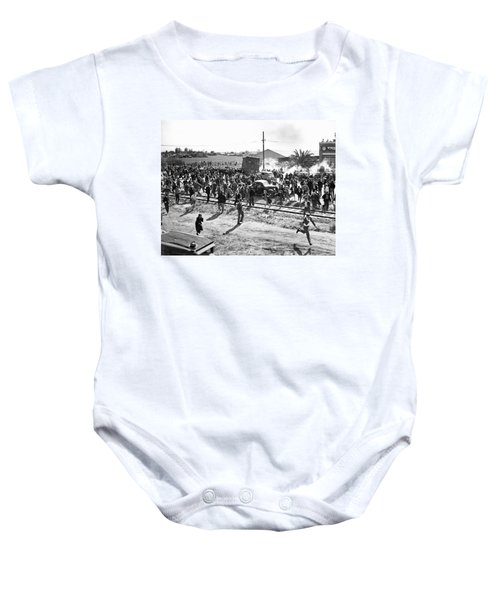 Riots At Cannery Strike Baby Onesie